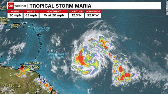 Xuất hiện thêm 3 cơn bão ở Đại Tây Dương 1