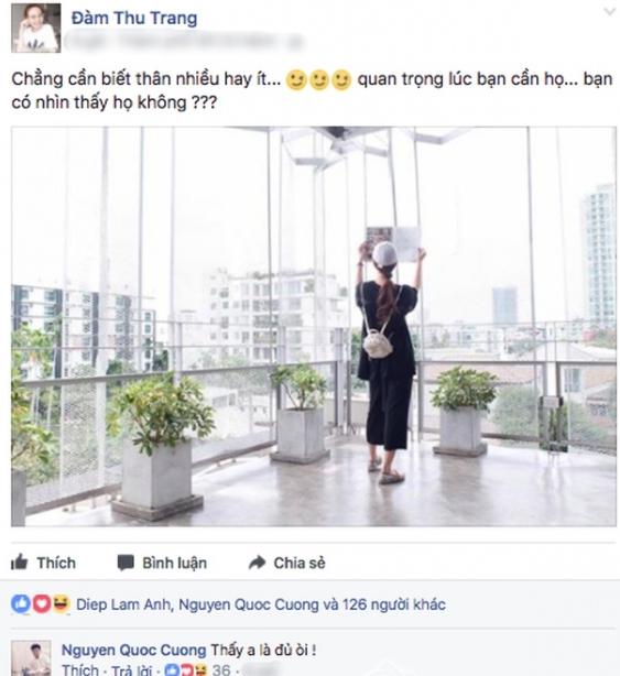 Cường Đô la công khai hứa hẹn đưa Đàm Thu Trang đi du lịch? 3