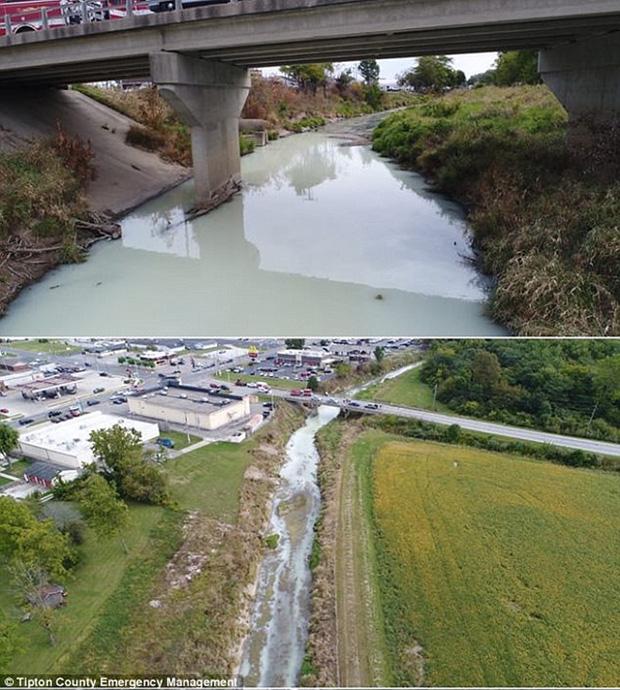 Nước sông chuyển thành màu trắng sữa khiến người dân hốt hoảng 6