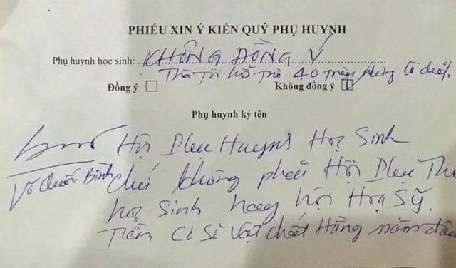 Giáo dục - Phụ huynh viết đơn gửi lên Chính phủ kiến nghị giải tán