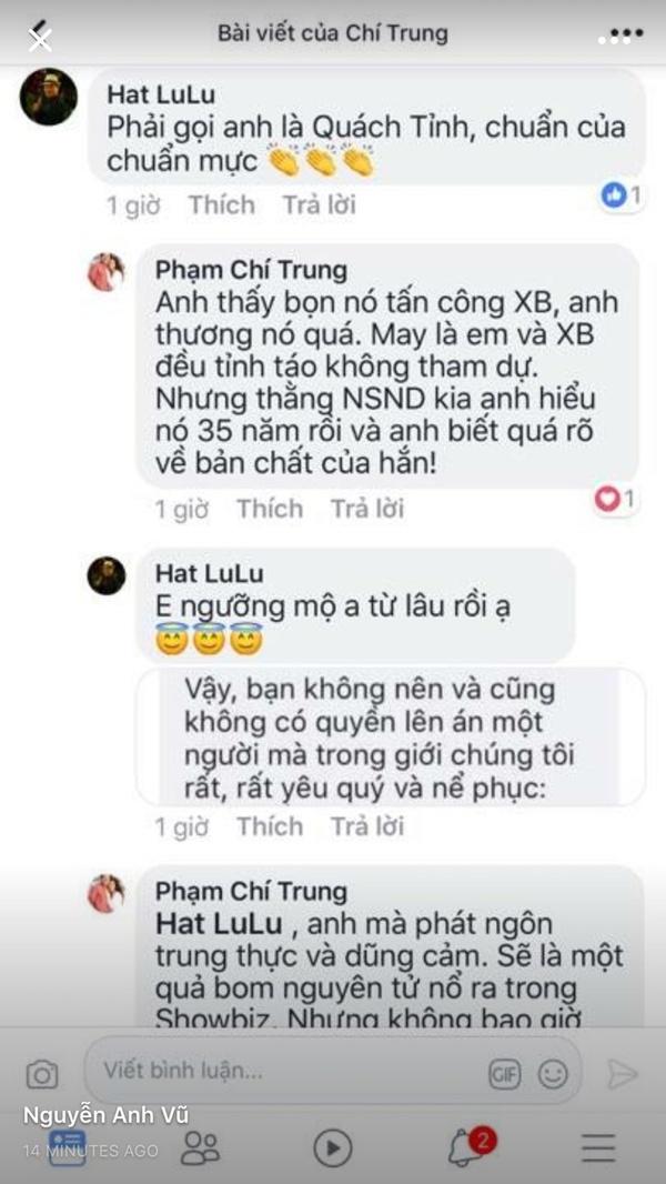 NSƯT Chí Trung công khai