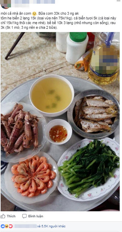 Hình ảnh Mâm cơm hải sản 33.000 đồng gây tranh cãi trong cộng đồng mạng số 1