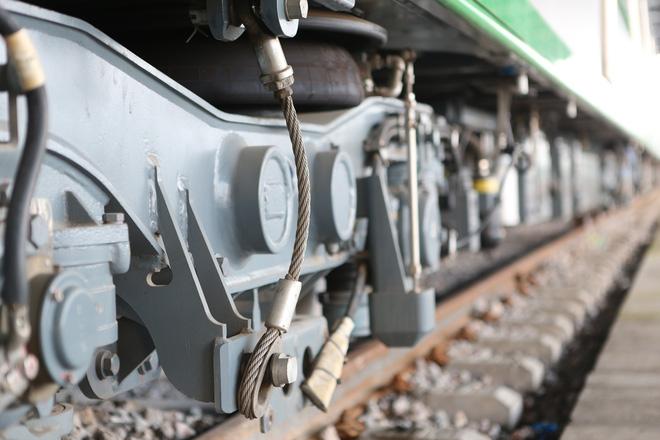 Cận cảnh hàng chục toa tàu được lắp đặt ở đường sắt Hà Đông - Cát Linh 6