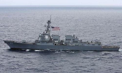 Hình ảnh Mỹ điều chiến hạm vào gần quần đảo Hoàng Sa số 1