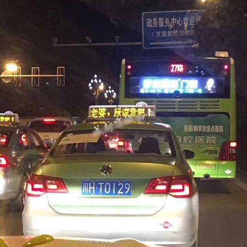 Hình ảnh Người chồng soái ca thuê hơn 600 chiếc taxi bật đèn chữ Vợ ơi, anh sai rồi số 1