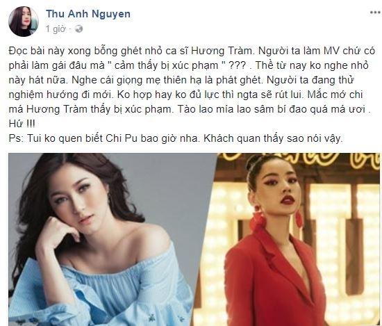 Anh Thư ghét Hương Tràm vì phán xét Chi Pu đi hát 3