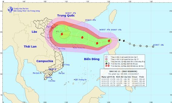Bão Khanun vào biển Đông, miền Trung chuẩn bị đón cơn bão số 11 1