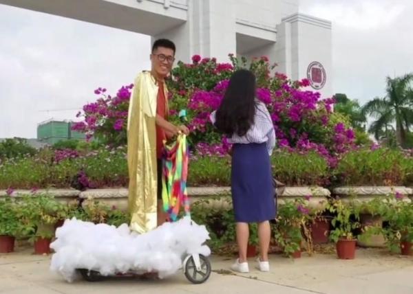 Hình ảnh Chàng trai đạp gió cưỡi mây đến tỏ tình với cô gái thầm yêu 4 năm số 2