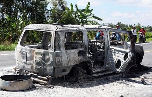 Hình ảnh Vụ ô tô chở giám đốc bị đốt: Manh mối từ sự bất thường của tay tài xế số 3