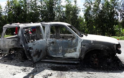 Vụ đốt ôtô chở giám đốc: Phóng hỏa thiêu chết nạn nhân để bịt đầu mối 1