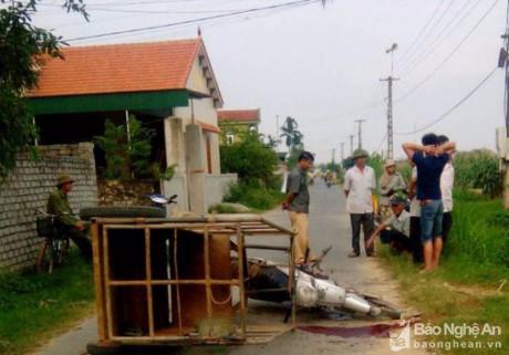 Xe chở bò bị lật, người lái bị đè chết tại chỗ 1