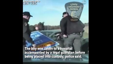 Cảnh sát vất vả truy đuổi bé trai 10 tuổi lái ôtô 160 km/h 1