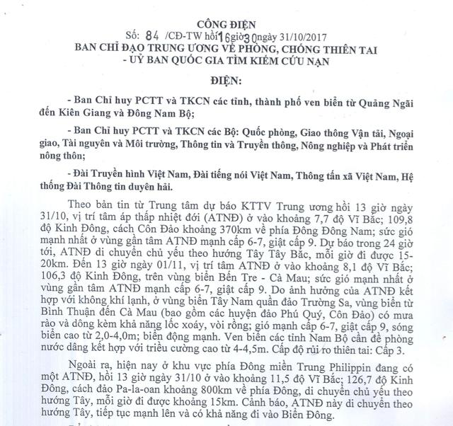 Yêu cầu Quảng Ngãi - Kiên Giang sơ tán dân khẩn cấp  1