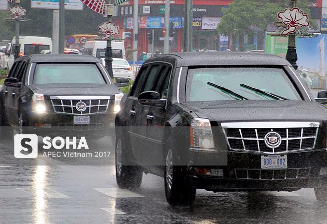 Dàn xe của tổng thống Trump hộ tống siêu xe Cadillac One The Beast xuất hiện trên phố Đà Nẵng 3