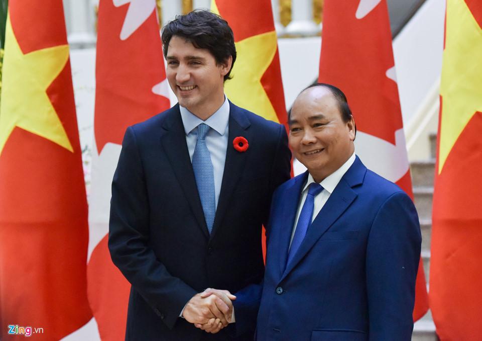 APEC 2017: Hình ảnh lễ đón chính thức Thủ tướng Canada tại Hà Nội 5