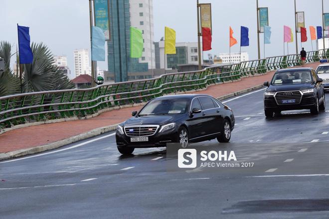 Đoàn xe phục vụ tổng thống Hàn Quốc Moon Jae In tại APEC lăn bánh trên phố Đà Nẵng 3