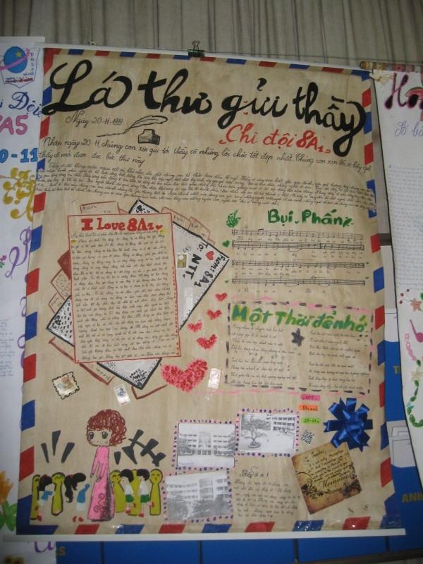 Ngày 20/11: Lời ngỏ báo tường hay và ý nghĩa nhất 6