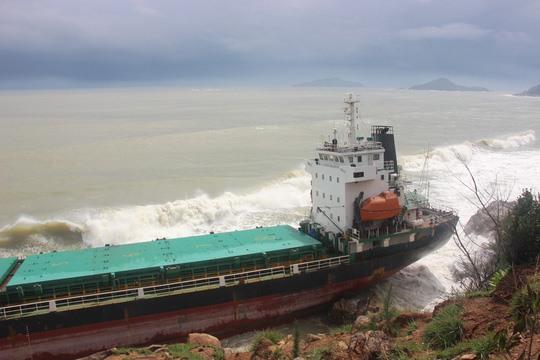 Bình Định yêu cầu khẩn trương trục vớt các tàu hàng bị chìm, trình phương án chậm nhất vào ngày 12/10 2