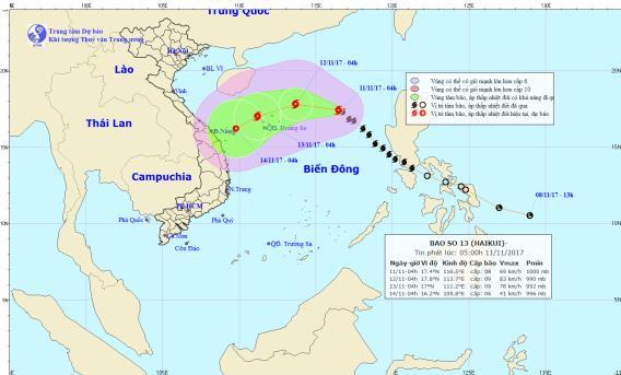 Cơn bão số 13: Miền Trung lo ứng phó bão 1