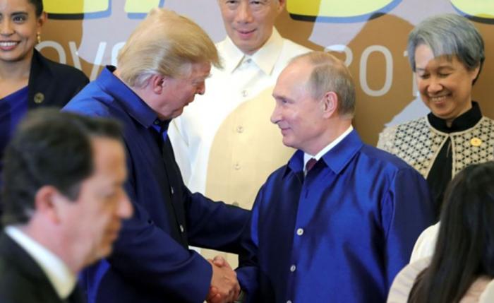 Hình ảnh Chiếc áo tơ tằm Tổng thống Trump và lãnh đạo APEC mặc trong tiệc tối 10/11 có gì đặc biệt? số 2