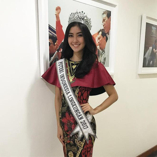 Nhan sắc xinh đẹp của đại diện Indonesia, cô gái đánh bại hơn 70 đối thủ vừa đăng quang Miss International 2017 13