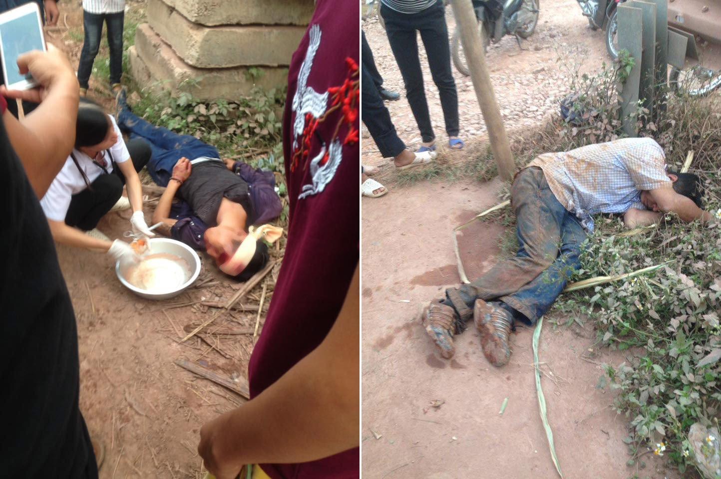 Dân hò nhau quây đánh 2 tên trộm gà, tung clip lên mạng xã hội 1
