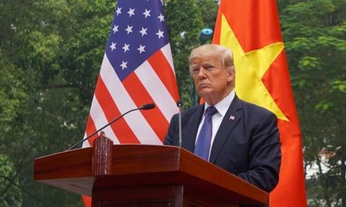 Hình ảnh Trump sắp ra thông báo quan trọng về chuyến công du châu Á số 1