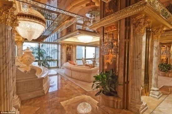 Hình ảnh Căn hộ dát vàng choáng ngợp của Tổng thống Mỹ Donald Trump số 3