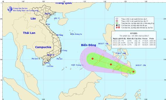 Xuất hiện vùng áp thấp đang mạnh lên, khả năng đi vào Biển Đông 1