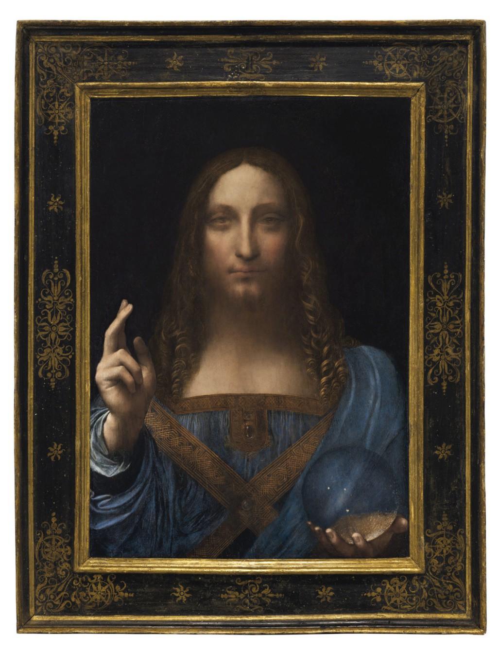 Bức họa Salvator Mundi (Đấng Cứu Thế) phá kỷ lục với mức giá 450 triệu USD 1