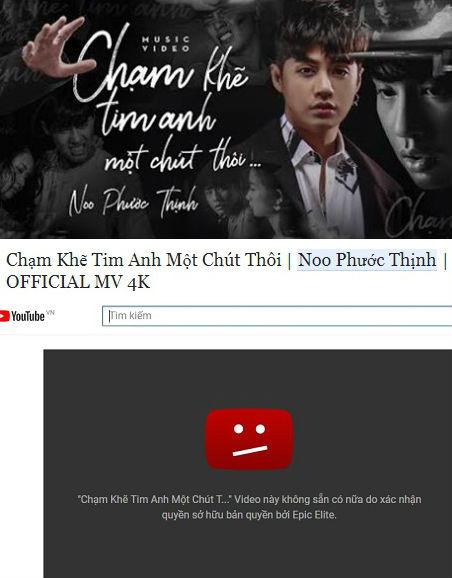 Nguyên nhân khiến MV 30 triệu view của Noo Phước Thịnh bị