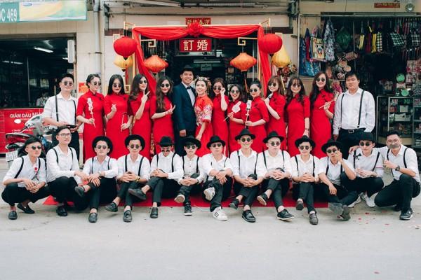 """Dàn phù dâu và phù rể """"cực chất"""" trong trang phục Thượng Hải thời xưa 1"""