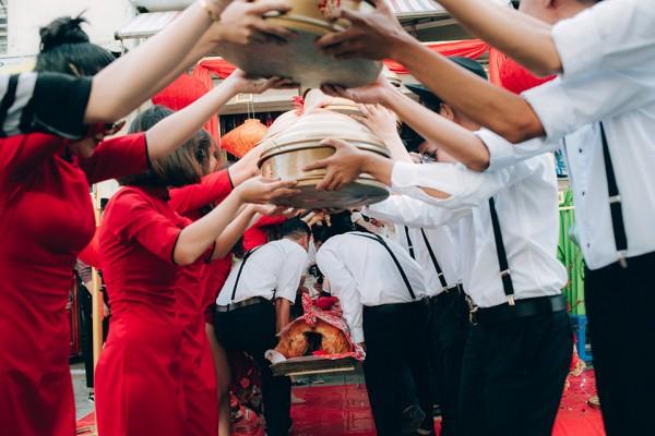 """Hình ảnh Dàn phù dâu và phù rể """"cực chất"""" trong trang phục Thượng Hải thời xưa số 4"""