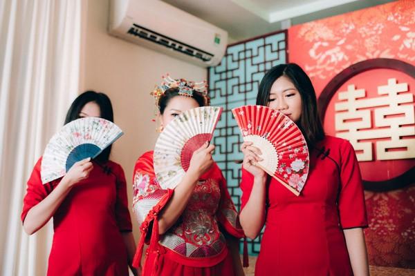 """Hình ảnh Dàn phù dâu và phù rể """"cực chất"""" trong trang phục Thượng Hải thời xưa số 7"""