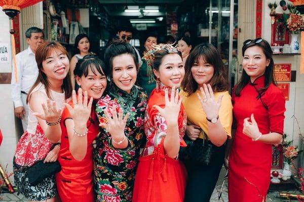 """Hình ảnh Dàn phù dâu và phù rể """"cực chất"""" trong trang phục Thượng Hải thời xưa số 8"""