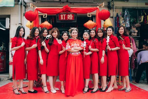 """Dàn phù dâu và phù rể """"cực chất"""" trong trang phục Thượng Hải thời xưa 2"""
