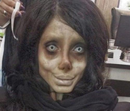 Hình ảnh Cô gái Iran phẫu thuật hơn 50 lần để giống Angelina Jolie nhưng lại hóa cô dâu ma số 8