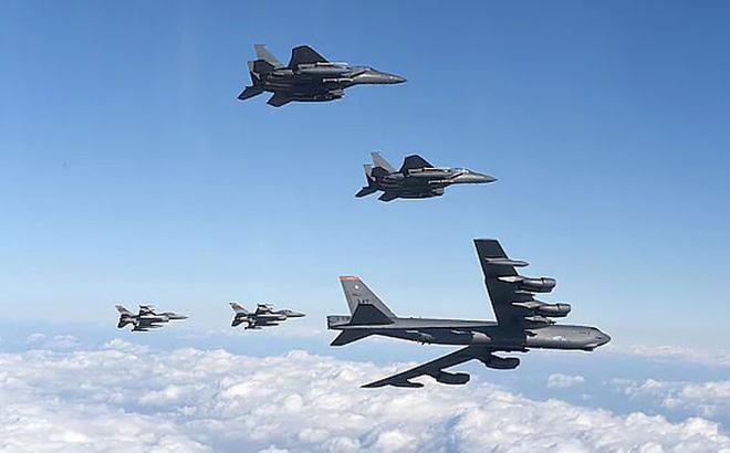 Hàng trăm chiến cơ Mỹ - Hàn gầm rú sát nách Triều Tiên 1