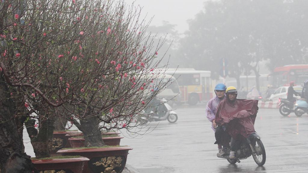 Giảm đột ngột tới 12 độ C, Bắc Bộ cổ vũ đội tuyển U23 Việt Nam trong mưa rét 1