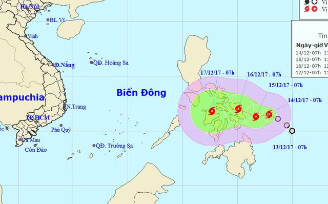 Hình ảnh Bão KAI-TAK giật cấp 10 gần Biển Đông có diễn biến phức tạp số 1