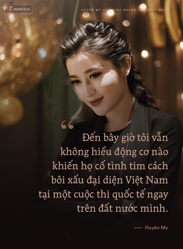 """Huyền My: """"Tôi không hiểu động cơ nào khiến họ cố tình tìm cách bôi xấu đại diện Việt Nam tại một cuộc thi quốc tế"""