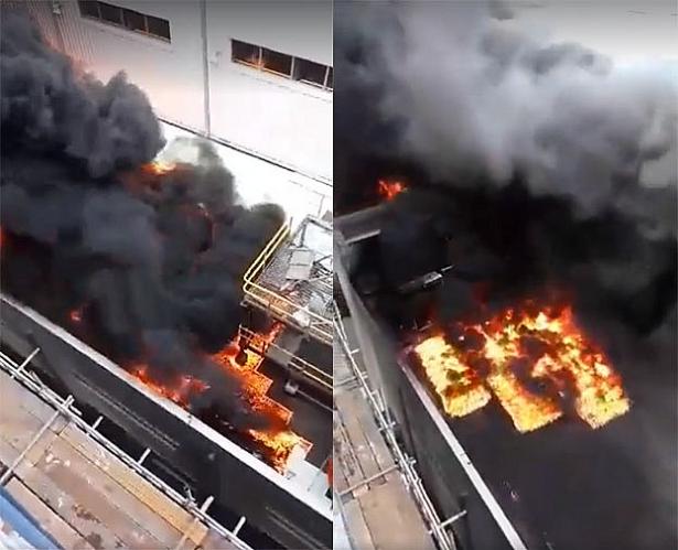 Lửa bao trùm nhà máy nhiệt điện Thái Bình 2, cột khói bốc cao hàng chục mét 1