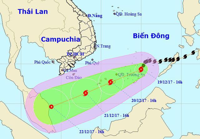 Hình ảnh Tin bão số 15 mới nhất ngày 20/12: Bão Kai-tak có ảnh hưởng trực tiếp đến đất liền Việt Nam? số 1