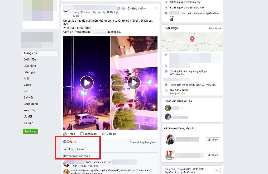 Sẽ kiểm tra, xử lý Facebooker tung tin TP.Đà Lạt có tuyết rơi 1