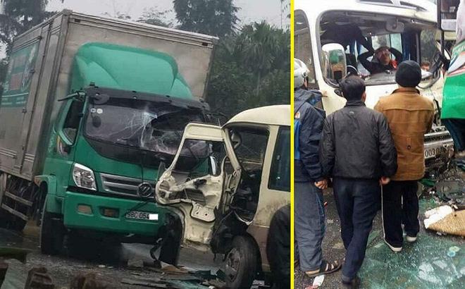 Tuyên Quang: Ô tô tải đối đầu xe khách, nhiều hành khách bị thương  1