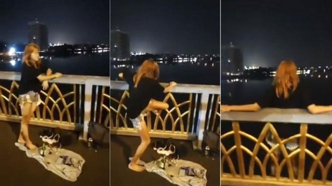 Chán nản vì thất tình, cô gái lên Facebook quay video trực tiếp cảnh nhảy xuống sông tự tử 1