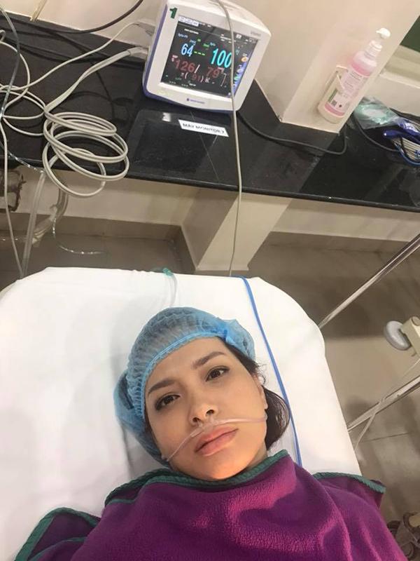 Cựu người mẫu Thúy Hạnh nhập viện phẫu thuật cắt bỏ khối u 1