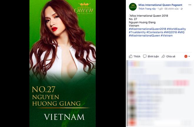 Hương Giang Idol trở thành đại diện Việt Nam thi