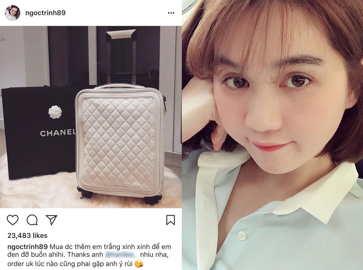 Có ai chịu chơi như Ngọc Trinh, sắm thêm vali Chanel cả trăm triệu dù đã có sẵn, chỉ khác màu 1