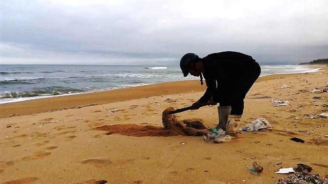 Chưa tìm được nguồn gốc 5 tạ thịt thối dạt vào bờ biển Thừa Thiên-Huế 3